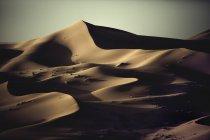 Dunes de sable dans les formes d'onde — Photo de stock