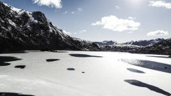 Ce floes and mountains in Lofoten Islands, — Stock Photo