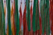 Colorful prayer flags — Stock Photo