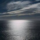 Enorme océano y cielo al atardecer, Manzanita, Oregon - foto de stock