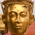 Statue face at Grand Palace, Bangkok, Thailand — Stock Photo
