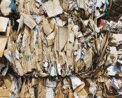 Riciclaggio con i pacchi di cartone ordinati e legata per il riciclaggio — Foto stock