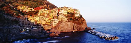 Cinque Terra town of Manarola at sunset in Italy, Europe — Stock Photo