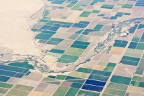 Patchwork-Felder-Muster in Kalifornien, Usa — Stockfoto