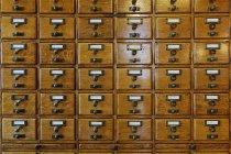 Tiroirs de catalogues de cartes, Des Moines, Iowa, USA — Photo de stock