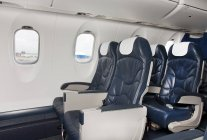 Seats of empty airplane in Tallinn, Estonia — Stock Photo