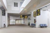 Empty airport terminal of Tallinn airport, Estonia — Stock Photo