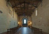 Igreja de San Francesco interior, Toscana, Itália — Fotografia de Stock