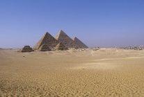 Zoser і піраміди Гізи в Саккарі, давніх поховань, Всесвітньої спадщини ЮНЕСКО, Єгипет. — стокове фото