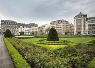 Garden of Place des Martyrs, Luxembourg City, Luxembourg, Europe — Stock Photo