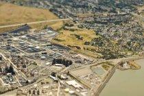 Coastal industry and community in California, USA — Stock Photo