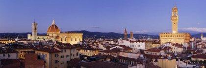 Флоренс горизонт у сутінках в Італії, Європі — стокове фото
