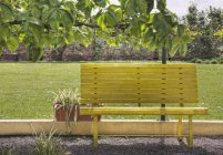 Bench in park in sunlight in Venice, Italy — Stock Photo