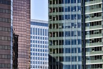 Modern skyscrapers with glass facades in Bellevue, Washington, USA — Stock Photo