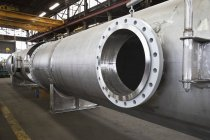 Close-up of opening in steel pipe in Seattle, Washington, USA — Stock Photo
