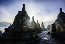 Monuments in Borobudur, Jawa Tengah, Indonesia — Stock Photo
