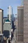 Вид на хмарочоси міста Сіетл, Вашингтон, США — стокове фото