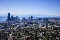 Вид з повітря Сіетл, Вашингтон, США — стокове фото