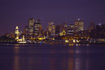 Montréal skyline illuminato di notte, Quebec, Canada — Foto stock