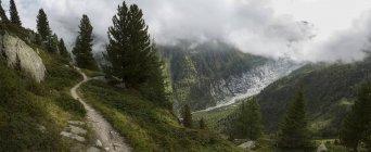 Trail to Mt Blanc, Switzerland — Stock Photo