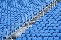 Blue seats rows in sports stadium, Edinburgh, Scotland, UK — Stock Photo