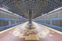Movie reels on ceiling in subway station, Los Angeles, California, United States — Stock Photo