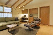 Modern living room, Dallas, Texas, États-Unis — Photo de stock