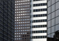 High rises in modern architecture with window patterns in downtown Denver, USA — Stock Photo