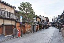 Case tradizionali in via Gion a Kyoto, Giappone — Foto stock