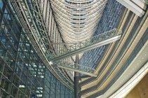 Tokyo International Forum interior in low angle view, Tokyo, Japan — стоковое фото