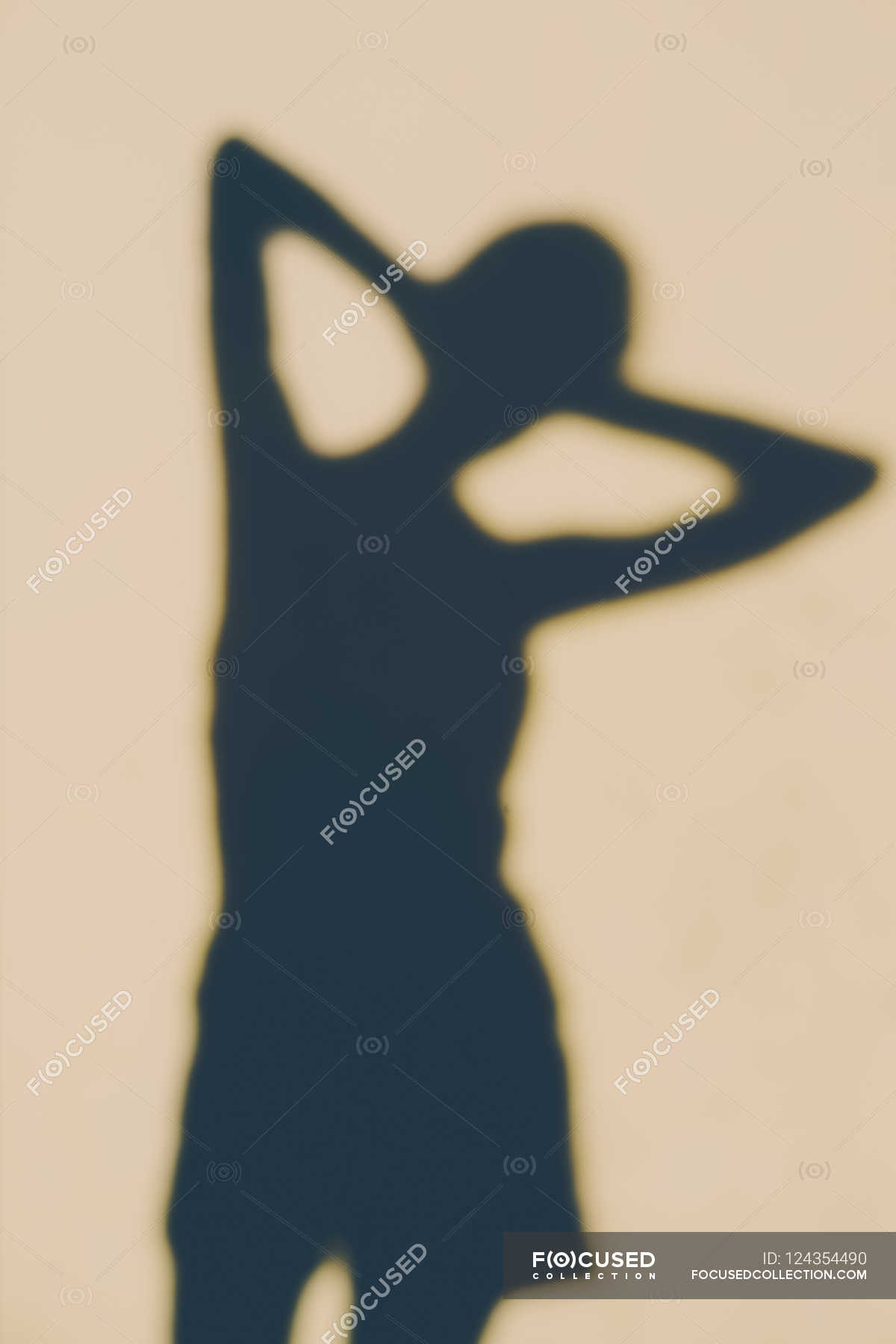 Outline Of A Human Body Stock Photo 124354490
