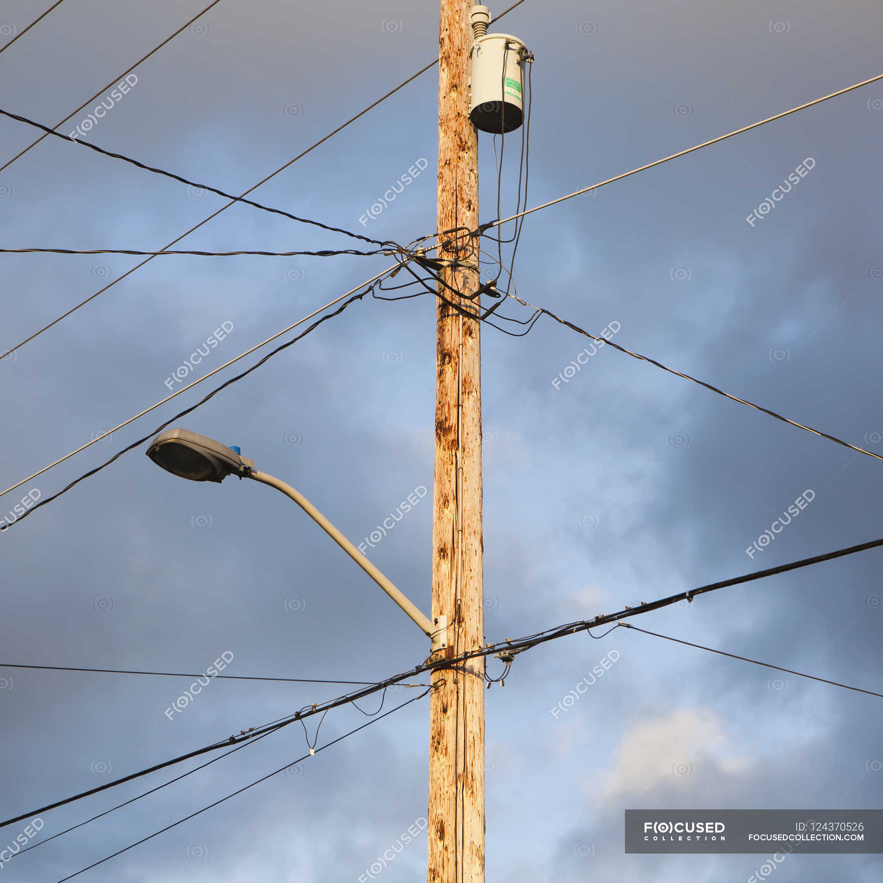 Telephone pole and wires — Stock Photo | #124370526