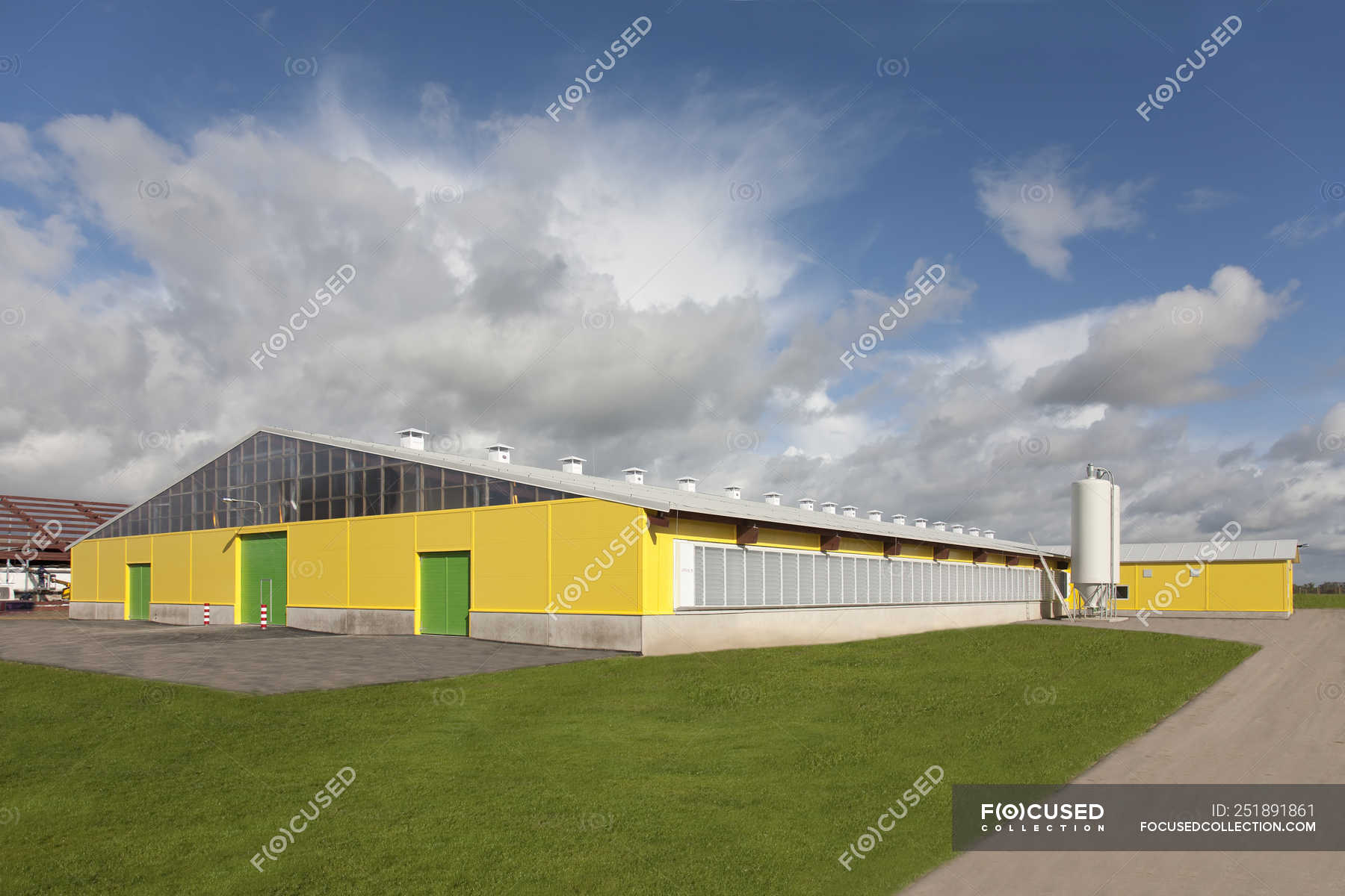 Cowshed exterior at automated dairy farm in Estonia — copy