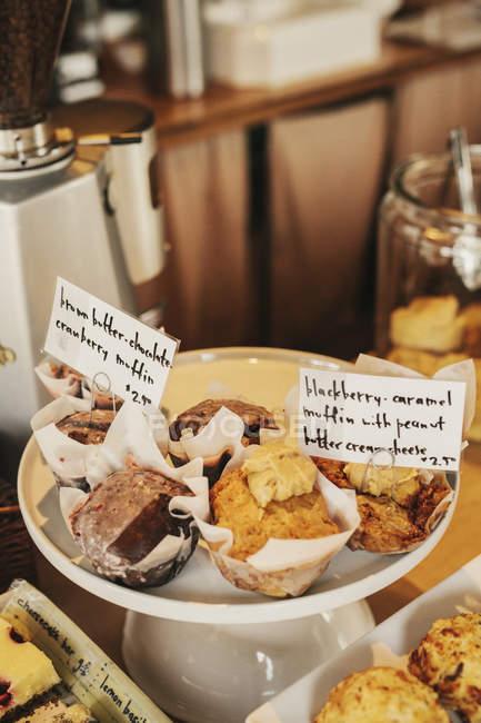 Свежеприготовленные блюда на прилавке — стоковое фото