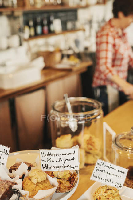 Freshly prepared food on the counter — Stock Photo