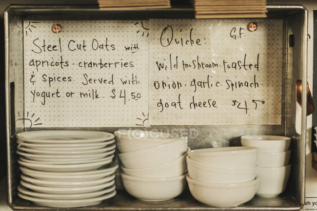 Stacks of plates and bowls. — Stock Photo