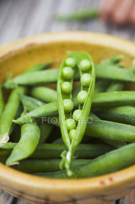 Close up of green peas — Stock Photo