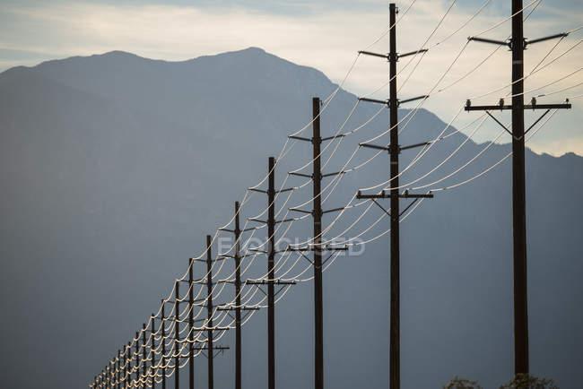 Линия электропередач — стоковое фото
