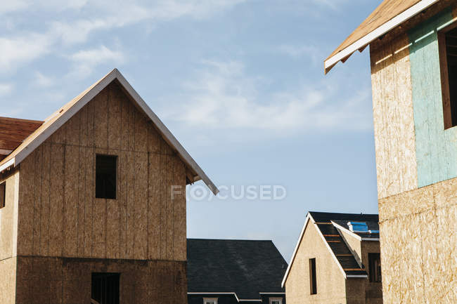 Homes under construction — Stock Photo