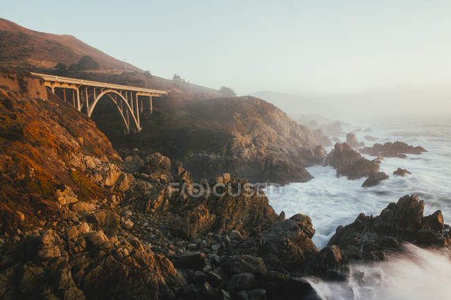 Pacific Ocean coastline — Stock Photo