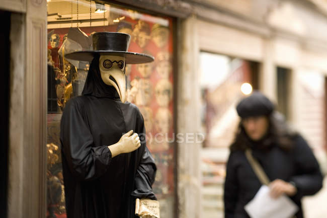 Person in a bird mask — Stock Photo