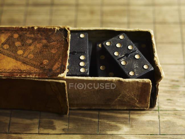 Domino game tiles — Stock Photo