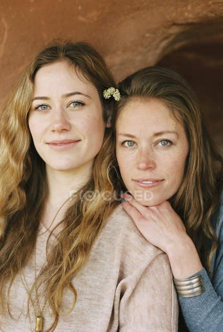 Boho women side by side — Stock Photo