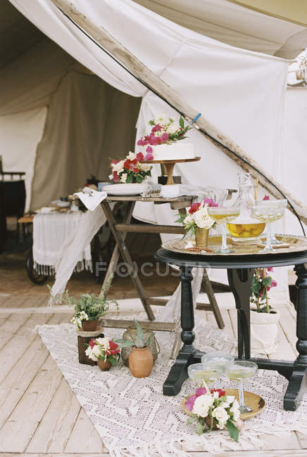 Tent in Boho style — Stock Photo