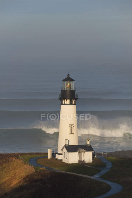 Historic Yaquina Head tower — Stock Photo