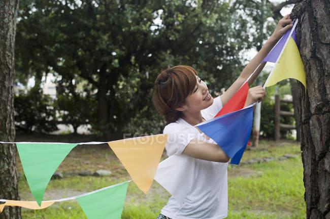 Жінка в Кіото парк — стокове фото