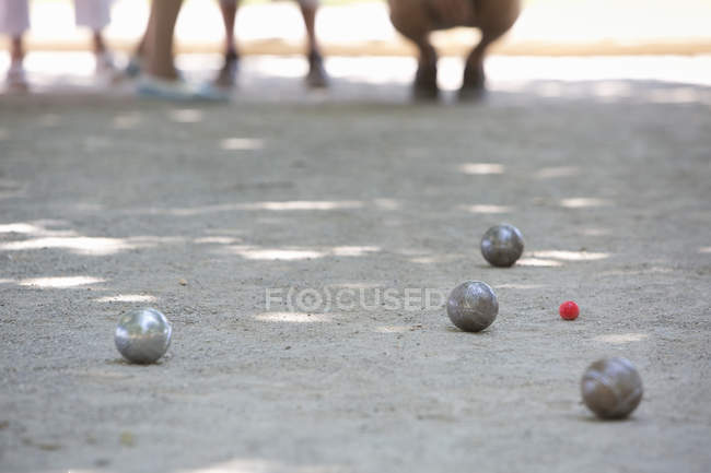 Boules game in progress — Stock Photo