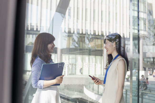 Two working women in office — Stock Photo