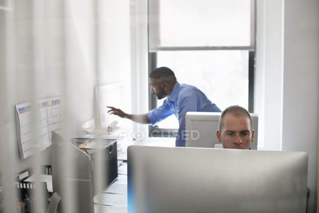 Men working in office — Stock Photo