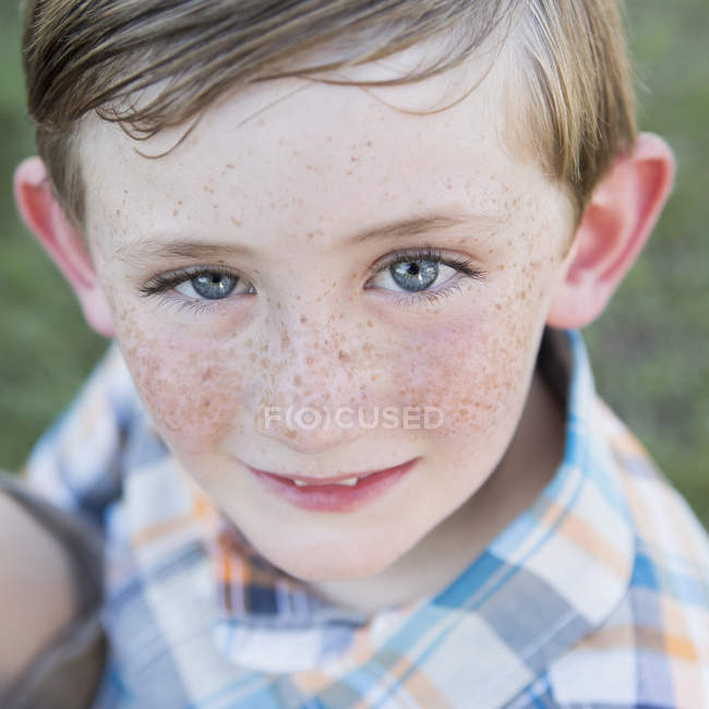 Young boy with blue eyes — Stock Photo